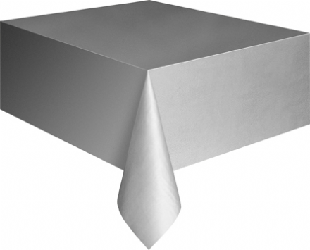 "Silver Rectangular Tablecover 54""x108""/ 137cmx274cm"